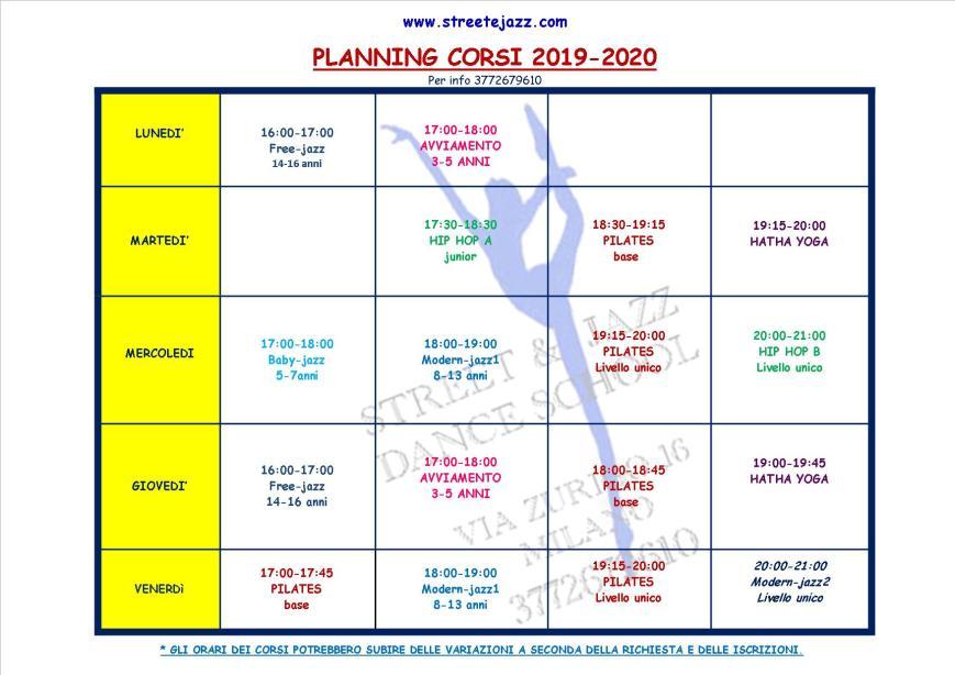 planning corsi 2019-2020
